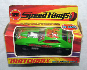 Vintage Matchbox Speed Kings K-39 Milligan's Mill Pinto Funny Car w Original Box