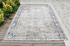 Turkish Rug 80''x115'& #039; Oushak Light Muted Color 6x9 Vintage Rug Carpet 206x295cm