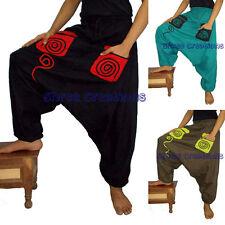 Men Women Harem Pants Yoga Casual Trousers Afghani Baggy Genie Hippie Aladdin