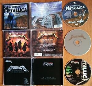 METALLICA TRIBUTE : TO THE FOUR HORSEMEN + METALLIC ASSAULT + TO BLACK ALBUM CD