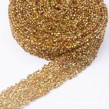1 Yard Rhinestone Beaded Glitter Applique Trim Bridal Dress Decor Accessories