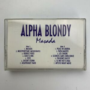 Alpha Blondy Masada Advanced Promo (Cassette)