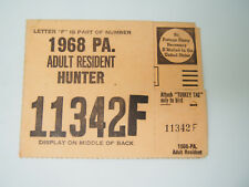 1967 Pa Adult Deer Bear Hunting Trapping License Turkey Tag 11342F