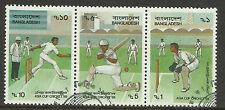 BANGLADESH 1988 ASIA CUP CRICKET Strip of 3 CTO Used (No 1)