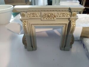 Dolls house interior sheraton fire surround (wooden)1/12 in scale