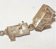 Vintage Sterling Silver Bracelet Charm English Opening House Tavern Inn (4g)