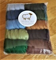 250g 100% Pure Merino Wool Tops Roving for felting and spinning. Mixed colours.