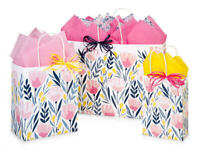 PINK PETALS Design Party Gift Paper Bag ONLY Choose Size & Pack Amount