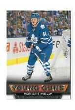 2013-14 UPPER DECK #218 MORGAN RIELLY YG RC UD YOUNG GUNS ROOKIE MAPLE LEAFS