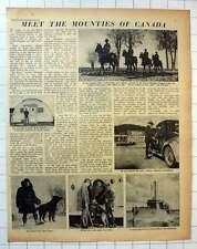 1955 Canada Mounties, Training School Rockliffe, Cornwallis Island, Bedford Basi