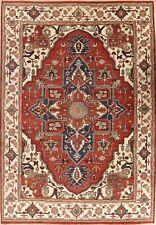10'x14' Large Heriz Serapi Geometric Oriental Area Rug Wool Hand-Knotted Carpet