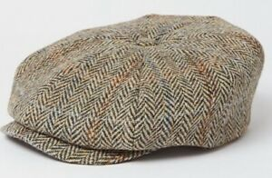 Stetson XL 61cm 100% Harris Tweed Virgin Wool Newsboy 8/4 Cap  Great Gatsby