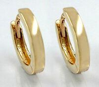 ECHT GOLD ***  Schlichte Klapp-Creolen Ohrringe glänzend 15 mm Ø