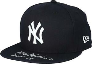 """Mike Mussina New York Yankees Autographed New Era Cap with """"HOF 19"""" Inscription"""