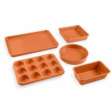 Gotham Steel 5 Piece Copper All in One Bakeware Set with Nonstick Coating - NEW!