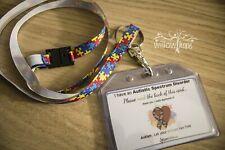 Autism Awareness Lanyard and Alert Card Bundle