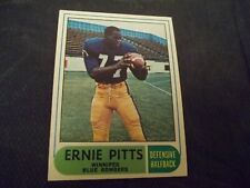 1968 OPC O-Pee-Chee CFL #66 Ernie Pitts Blue Bombers - ex+  centered