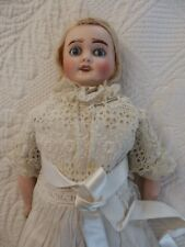 Rare Antique Fabrication Francaise AL& Cie Limoges R4/11 Bisque Head French Doll