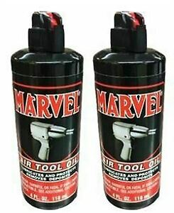 Marvel Air Tool Oil 118ml, 2 bottles with spout