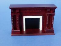 Miniature Dollhouse Mahogany in Color Victorian Fireplace New