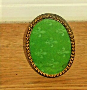 ANTIQUE OLD SMALL MINI BRASS  PICTURE FRAME
