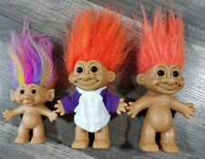 Set Of Three Vintage Troll Dolls Toys Russ Bright Of America