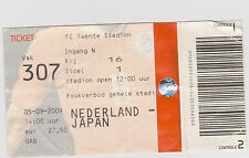 Sammler Used Ticket / Entrada Holland v Japan 05-09-2009