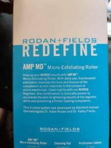 NIB Rodan & Fields Redefine AMP MD Micro Exfoliating Roller