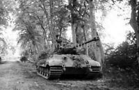 WW2 Picture Photo France 1944 German Tiger II heavy tank with Porsche-built 2828