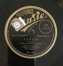 "RARE 78RPM 10"" MUSIC VOGUE JOHNNY SMITH QUINTET TABOU/MOONLIGHT IN VERMONT GETZ"