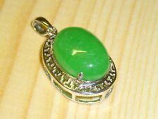 grüne Jade massiv Anhänger 925 Sterl. Silber
