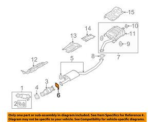 KIA OEM 09-18 Optima 2.4L-L4 Exhaust-Muffler & Pipe Gasket 287513S000