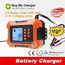 12v 12A UpTo 5.0L Car Van Intelligent Smart Battery Charger & Analyser Tester