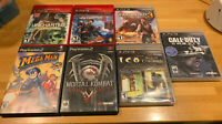 SONY Playstation Video Game Lot - 7 Games! - PS2 + PS3 - Megaman - Call Of Duty