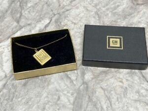 Vintage General Motors GM Tech Center Employee Recognition Necklace w/Diamonds