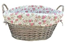 The Uppercrust Garden Rose Lined Laundry Basket