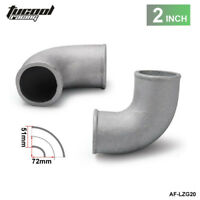 "2.0"" Inch 51mm Cast Aluminium Elbow Pipe 90 Degree Intercooler Turbo Tight Bend"