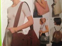 McCalls Sewing Pattern 8705 Carry On Bags Five Uncut Fashion Accessories Handbag