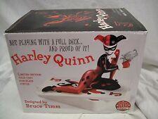 DC COMICS!! HARLEY QUINN STATUE  Bust Maquette From JOKER & BATMAN TOY FIGURINE