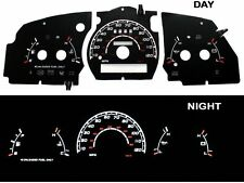 95-97 Ranger w/o RPM Black/White Indiglo Glow El Gauges