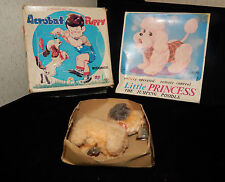 3 ANTIQUE DOG VINTAGE TOYS w BOXES~2 WIND-UP & 1 BATTERY~POODLE~SPANIELS