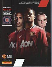 2011 Manchester United at Chicago Fire Soccer Program Wayne Rooney