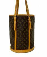 LOUIS VUITTON Monogram Bucket GM Shoulder Bag M42236 LV E-1132 Sticky, JUNK