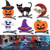 Halloween Pumpkin Cat Moon Hairpins Baby Kids Hair Clips Barrettes Accessories