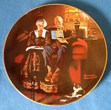 Norman Rockwell's - 'Evenings Ease' collector plate in original box