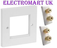 SPEAKER 4 POST DOUBLE 4MM BANANA WALL PLATE SOCKET EASY FIT SCREW TERMINALS