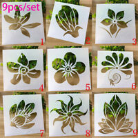 9pcs Flower Layering Stencils For Walls Painting Scrapbooking Embossing Template