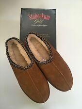 STAHEEKUM Slippers Mens Size 8 DRK Brown Slides NIB