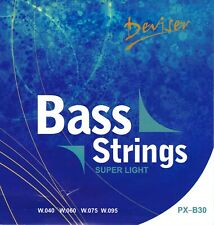 Set Of Bass Guitar Strings - Super Light (40-95) *** FREE POSTAGE ***