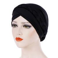 Women Turban Hat Casual Stretch Cap Head Scarf Fashion Cancer Chemo Muslim Braid